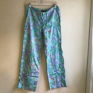 Ralph Lauren pj pants paisley blue pink size S